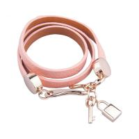 Buy cheap Multi Color Womens Leather Jewelry Punk Wrap Braided Leather Bracelet With Lock And Key from wholesalers