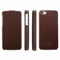 Buy cheap Case for iPhone 5, Made of Genuine Leather product