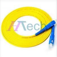 Buy cheap SC/UPC-SC/UPC SM Simplex 15Meter 3.0mm Fiber Optic Patch Cord Yellow Color Jacket from wholesalers