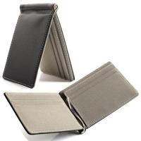 Buy cheap Black Credit Card Holder Wallet 11 * 7.5 Cm Leather Credit Card Holder from wholesalers