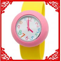 Buy cheap custom design cheap promotional item silicone slap watch from wholesalers