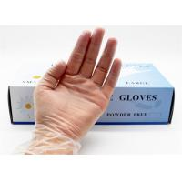 Buy cheap Transparent Disposable Latex Gloves , Powdered Latex Gloves 100 Pcs / Box from wholesalers