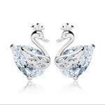 Buy cheap Noble Swan Sterling silver ear stud TJ0055 from wholesalers