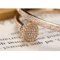Buy cheap Custom Made Cartier Juste un Clou Bracelet 18K White Gold Set with 374 Brilliant-cut Diamonds product