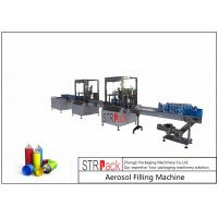 Buy cheap 52mm-65mm Aerosol Filling Line With Aerosol Spray Filling Machine And Automatic Ball Dropper from wholesalers