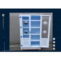 Buy cheap Two Full Door Safety Storage Cabinets , 2 Glass Door Flammable Liquid Cabinet from wholesalers