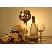 Buy cheap Stemware Mosica Vintage Glass Candle Holders For Wedding Eco Friendly from wholesalers