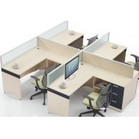 Buy cheap Commercial Office Furniture Partitions For Four People / Wood Computer Desks Office Cabin Partition from wholesalers