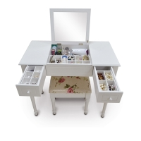 Buy cheap KD Package 74.5cm height Lockable Printed Makeup Dressing Tables from wholesalers