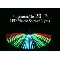 Programmable Meteor Shower LED Christmas Lights UK / US Plug Full Color 80cm Length