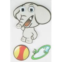 Buy cheap Soft Kids 3D Cartoon Stickers Promotional Baby Elephant Wall Stickers  from wholesalers