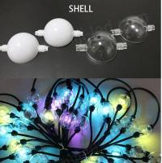 Buy cheap 3m reel 6 LEDS DMX 3D led ball ws2811 led pixel string 50mm globe addressable balls 12v from wholesalers
