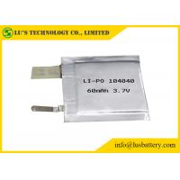 Buy cheap LP104040 3.7V 60mah small Lithium Polymer Battery Cell pl104040 lithium ion batteries 3.7v 60mah for tracking system from wholesalers