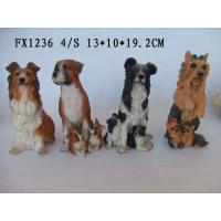 China Customized Design Polyresin Figurine Dog Garden Statues With Different Postures on sale