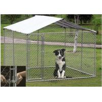 Buy cheap OEM / ODM Accepted Metal Dog Kennel With Canopy Top Lock Design High Security from wholesalers