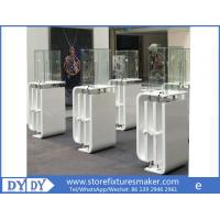 Buy cheap Oem manufacturing good price wooden glass white color perspex display stands with locks from wholesalers