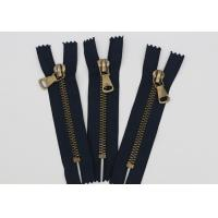 Buy cheap Antique Brass Normal Teeth Fire Retardant Zippers 9 Inch Cotton Yarn Black Tape from wholesalers