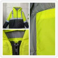 Buy cheap PU Coating Polyester Reflective Apparel , High Vis Reflective Work Clothing product