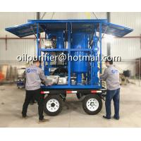 Buy cheap Mobile Trailer Mounted Vacuum Transformer Oil Purifier,Insulation Oil Filtration ,Dielectric Oil Purification System from wholesalers