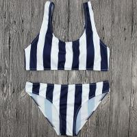 Buy cheap Wholesale and Retail 2017 Women Sexy Striped Bandeau Bikini Set product