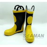 Buy cheap Steel Toe Fireman Rubber Boots Fire Fighter'S Equipment EN15090-2012 Safety Shoes from wholesalers