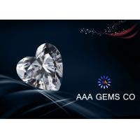 7 MM Enthusiastic Heart  White Moissanite , 4 Carat Moissanite