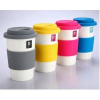Buy cheap Candy Colour Silicone Rubber Coffee Cup Lid And Sleeve With High Quality Heat Resistant And Anti Slip For Drinkware from wholesalers