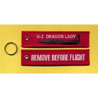 Buy cheap U-2 Dragon Lady Remove Before Flight Fabric Embroidered Key Ring Tag from wholesalers