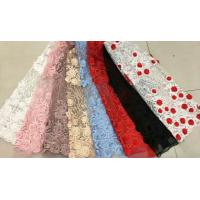Buy cheap Floral Multi Colored Lace Fabric Beaded Embroidered Mesh Fabric For Fashion Show product