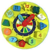 Buy cheap Wooden Clock Sets, Wooden Educational Toys from wholesalers