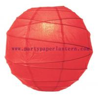 Buy cheap Poppy Red Paper Lantern For Parties , Round Decorative Lanterns For Wedding Centerpieces from wholesalers