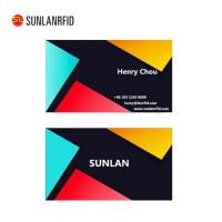 Buy cheap CMYK printing HF+LF plastic dual interface smart chip card with reader and writer for payment(professional manufacturer) from wholesalers