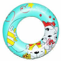 Buy cheap Cartoon Printed Inflatable Swim Rings For Baby / Children PVC Pool Floats from wholesalers