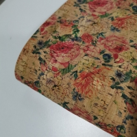 Buy cheap Portugal Eco Friendly flower vegan printing natural cork pu leather fabric for bag shoe handbag from wholesalers