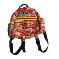 Buy cheap Red zipper neoprene children backpack with one main roomy pocket and a small front pocket,cute animal pattern on outside from wholesalers