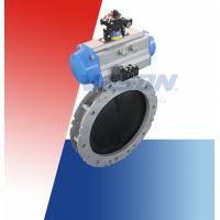 Buy cheap Automated Butterfly Valve / On Off Butterfly Valve For Dry Bulk Or Solid Or Liquid Slurry from wholesalers