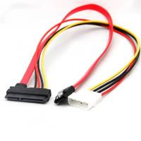 Buy cheap SATA Combo 15 Pin Power And 7 Pin Data Cable , 4 Pin Molex To Serial ATA Lead Cable from wholesalers