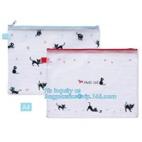 Buy cheap pen folder bag for holding small stationery, plastic mesh zipper document bag, Student A4/A5/A6 Notebook Document File P from wholesalers