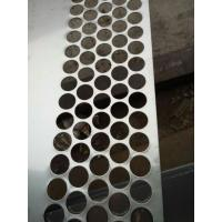 Buy cheap Stainless steel Perforated Metal Mesh Sheet 0 . 8mm - 2mm For Protection Decoration from wholesalers