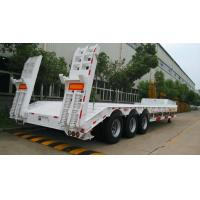 Buy cheap 3 axle low loader trailer for heavy machinery transport China low bed semi trailer from wholesalers