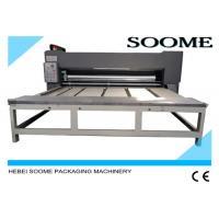 Semi Auto Flexo Printer Slotter Die Cutter / Flexo 2 Color Flexo Printing Machine