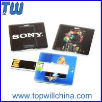 Mini Square Card 16GB Flash Disk with Both Side Digital Printing