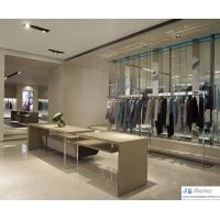 Buy cheap Pure fashion space atmosphere women's clothing store by art leisurely fashion display wardrobe and curved counters from wholesalers
