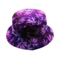 Buy cheap Flat Top Custom Tie Dye Bucket Hat 58CM Portable Polyester With Smooth Tactility from wholesalers