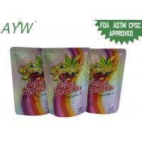 Buy cheap Eco Friendly Stand Up Foil Pouches Cold Resistant , Commercial Zip Up Plastic BagsFor Juice Packaging from wholesalers