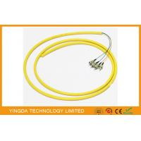 Buy cheap ODF Bunchy Fiber Optic Pigtail 4 Cores LSZH 0.9MM Yellow , Single Mode Pigtail from wholesalers
