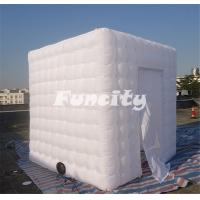 Buy cheap Customized Camping Giant Inflatable Cube Tent White With Sewing Technology from wholesalers