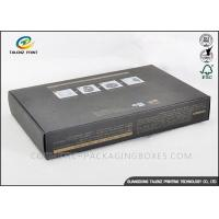 Buy cheap Printed Personalized Cosmetic Boxes , Gray Custom Packaging Boxes With Logo from wholesalers