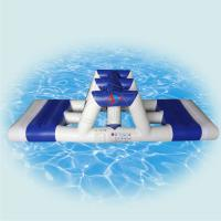 Buy cheap White Ultimate Inflatable Floating Water Park For Childrens 0.9mm PVC from wholesalers