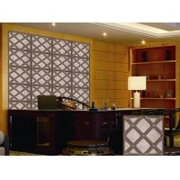 Buy cheap PU Leather 3D Wall Board Modern KTV 3D Background Wallpaper Light weight and Soundproof product